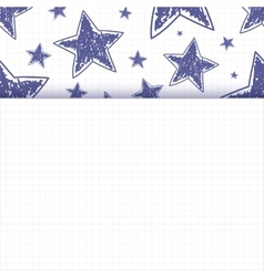 Abstract background with hand drawn stars vector image