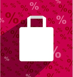 Sale shopping bag with copy space and long shadow vector