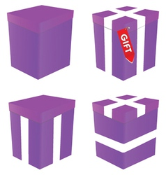 Purple gift box vector