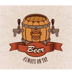 Beer on tap vector