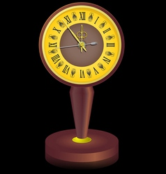 Vintage clock shortly before midnight vector