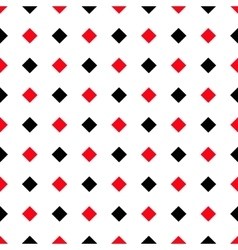Abstract white red black rhombus pattern vector