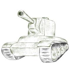 Green tank vector