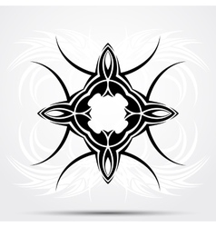 Abstract tribal tattoo vector image