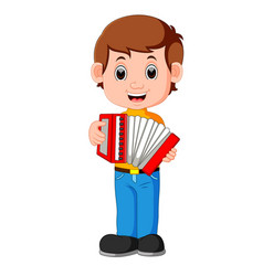 accordion piano player vector image vector image