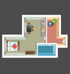 Apartment floor plan vector