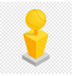 award tennis ball trophy cup isometric icon vector image