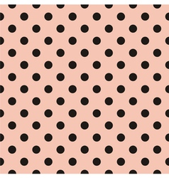 Black polka dots tile pattern or pink wallpaper vector image vector image