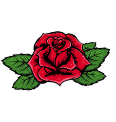 Cartoon rose isolated on white background design vector