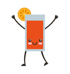 citrus juice fruit kawaii character vector image vector image