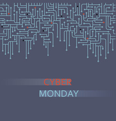 cyber monday background sale technology banner vector image vector image