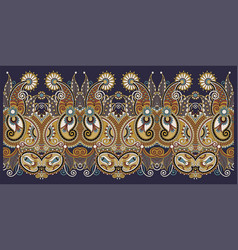 decorative floral stripe pattern ethnic paisley vector image
