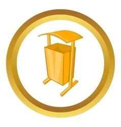 Dustbin for public spaces icon vector