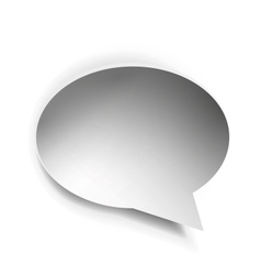 Empty paper speech bubble vector image