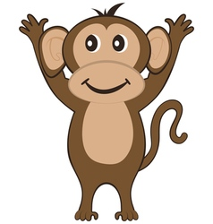 Funny Cartoon Monkey vector image