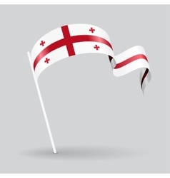 Georgian wavy flag vector