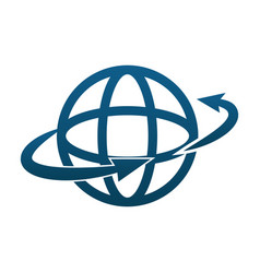 global around world connection technology vector image