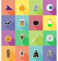 Halloween flat icons 18 vector