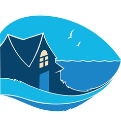 home near the sea vector image vector image