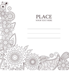 Invitation card with paisley pattern vector
