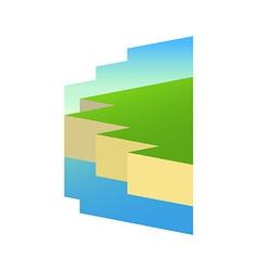 Irish Shore in Style vector image vector image