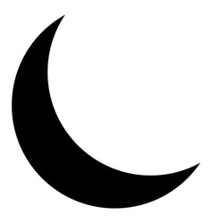 isolated moon silhouette vector image