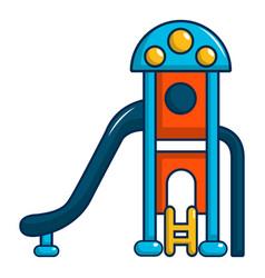 kids slide icon cartoon style vector image
