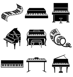 Logo icons piano vector