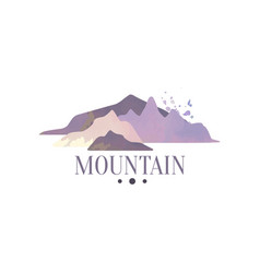 mountain logo template tourism hiking and vector image vector image