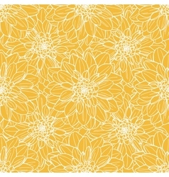 Seamless dahlia flower pattern vector image