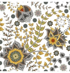 seamless vintage floral pattern Stylized vector image vector image
