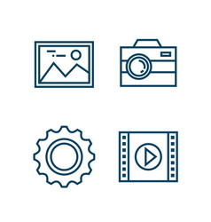 settings menu smartphone icons vector image