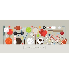 Sports Equipment Flat Icons Display Banner vector image vector image