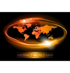 world abstract shine vector image vector image