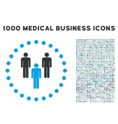 Community icon with 1000 medical business symbols vector