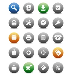 Round buttons for internet and shopping vector
