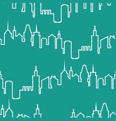 Modern city silhouette seamless pattern vector