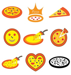 logo icons pizza vector image