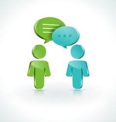 Dialogue Speech Bubbles vector image