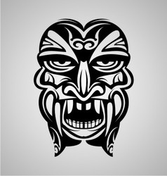Tribal ancient mask vector