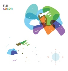 Abstract color map of fiji vector