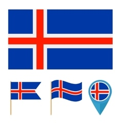 Icelandcountry flag vector