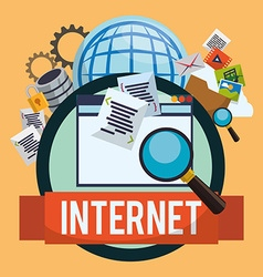 Internet design vector