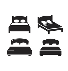 Black bed vector
