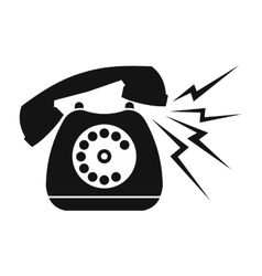 Ringing blue stationary phone vector