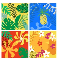 Tropical graphic design exotic background vector