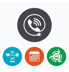 Phone sign icon call support symbol vector