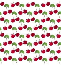 Red cherries seamless vector