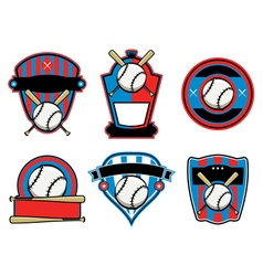 Baseball badges and emblems vector