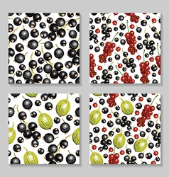 Berry pattern set3 vector